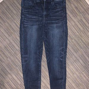 American Eagle Super Hi-Rise Jegging Dark 8 Short